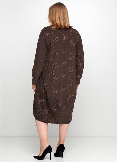 Оливковое (хаки) повседневное платье New Collection фактурное