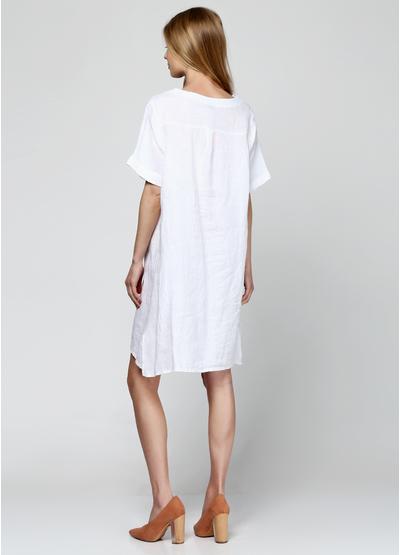 Белое платье короткое Made in Italy