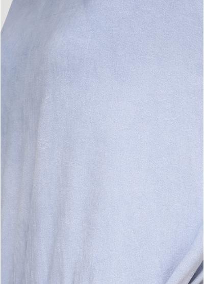 Серо-голубое платье миди H1 с абстрактным узором