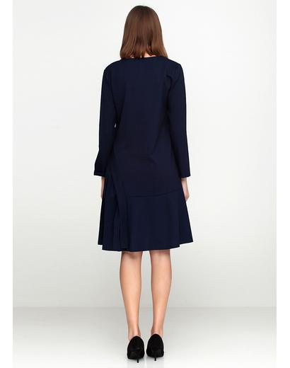 Синее платье миди Stella Milani однотонное
