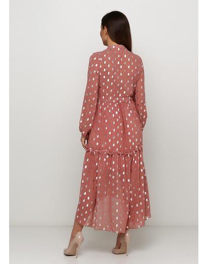 Темно-розовое платье by clara Paris с цветочным принтом