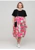 Рожева кежуал сукня оверсайз, балон 159 С з квітковим принтом