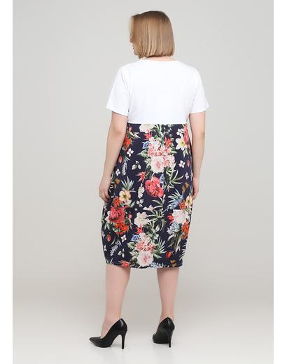 Комбінована кежуал сукня оверсайз 159 С з квітковим принтом