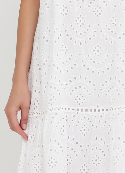 Белое кэжуал платье а-силуэт Onlys однотонное