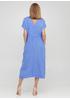 Голубое кэжуал платье Made in Italy однотонное
