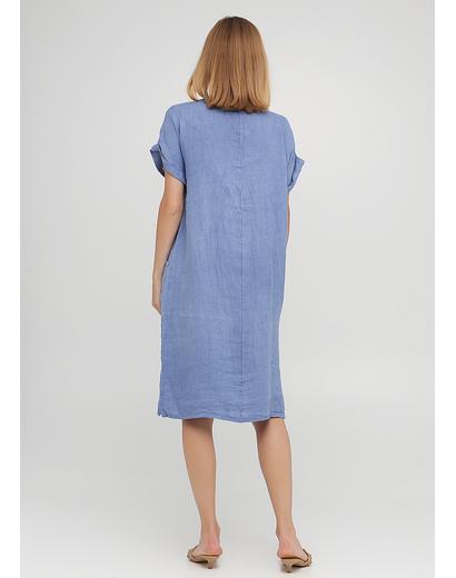 Голубое кэжуал платье оверсайз Made in Italy однотонное