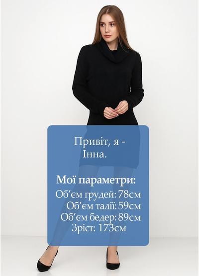 Черное повседневное платье Alpini однотонное