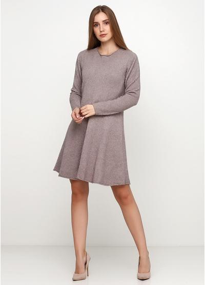Бежевое повседневное платье Alpini меланжевое
