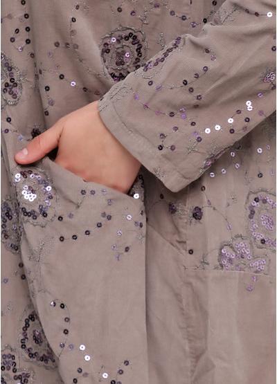 Бежевое платье оверсайз New Collection фактурное