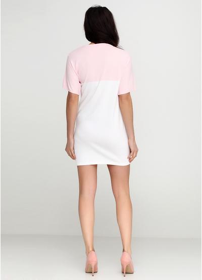 Комбинированное платье короткое Beauty Women однотонное