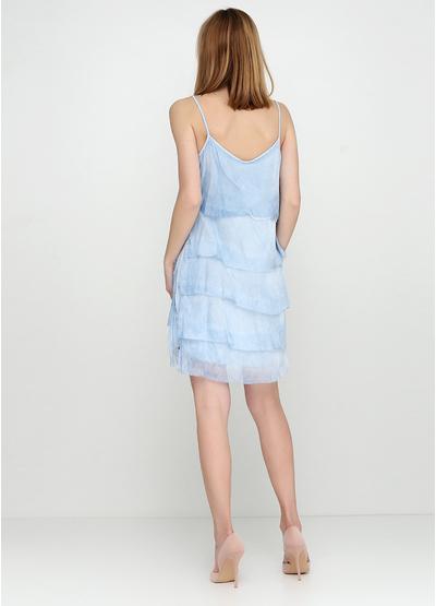 Голубое платье короткое Miss G однотонное