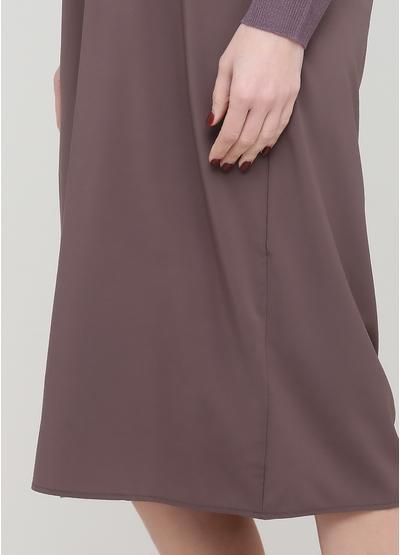 Світло-фіолетова кежуал сукня оверсайз Beauty Women однотонна