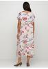 Пудровое платье клеш Made in Italy с цветочным принтом