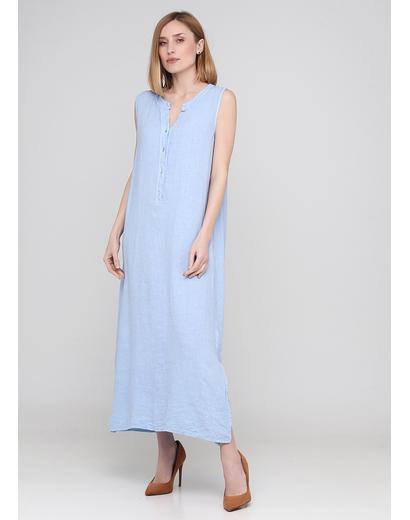 Блакитна кежуал сукня а-силует Made in Italy однотонна