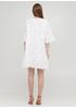 Белое кэжуал платье клеш, оверсайз Onlys однотонное