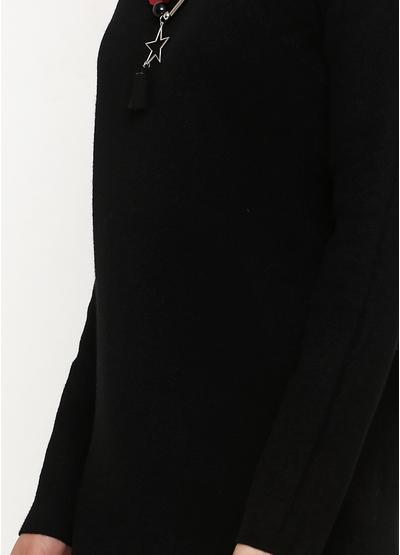 Черное повседневное платье футляр Melody Maker однотонное