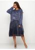 Синее платье а-силуэт New Collection однотонное
