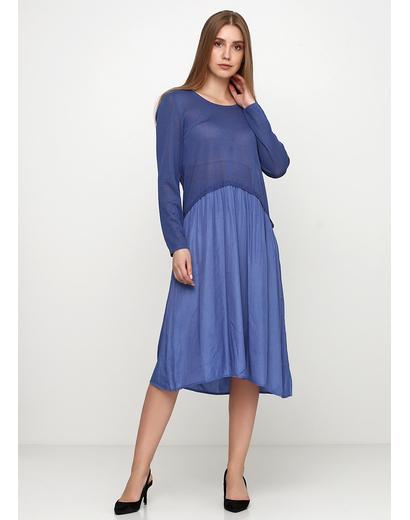 Синее платье клеш Melody
