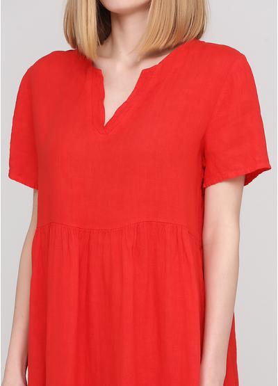 Червона кежуал сукня а-силует Made in Italy однотонна