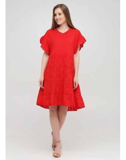 Красное кэжуал платье оверсайз Onlys однотонное