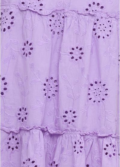 Фиолетовое кэжуал платье оверсайз, клеш Onlys однотонное