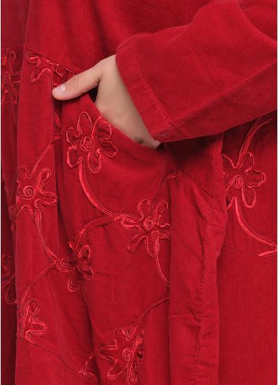 Бордовое повседневное платье оверсайз New Collection фактурное