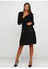 Черное повседневное платье а-силуэт Finery однотонное