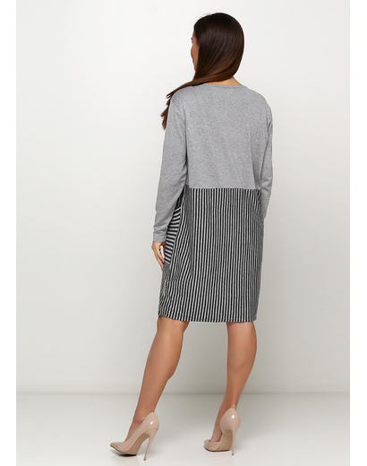 Серое платье Finery в полоску