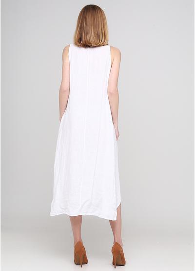 Білий кежуал сукня а-силует Made in Italy однотонна
