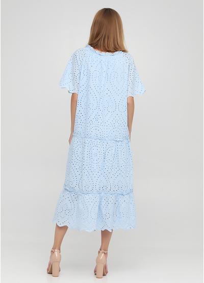 Голубое кэжуал платье оверсайз Onlys однотонное