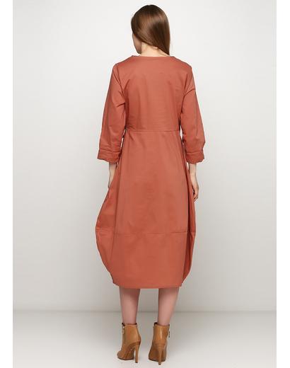 Темно-бежевое платье на запах Insta Firenze однотонное
