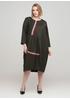 Темно-зелена кежуал сукня оверсайз 159 С однотонна
