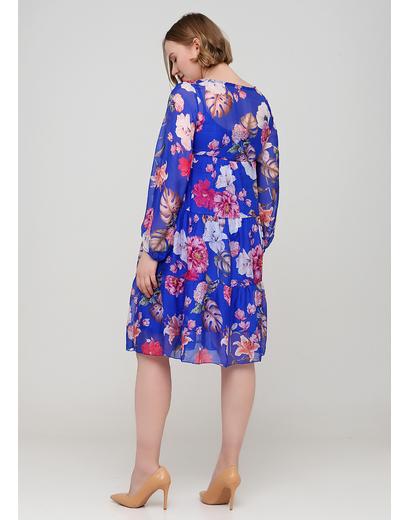 Синя кежуал сукня оверсайз Made in Italy з квітковим принтом