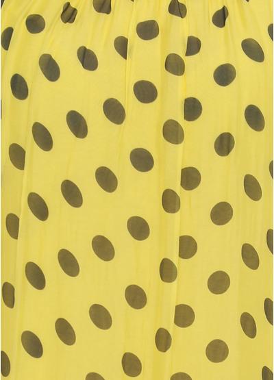 Желтое кэжуал платье а-силуэт Moda Italia в горошек