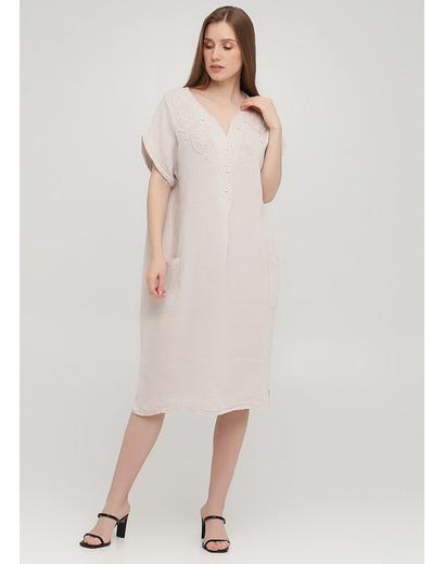 Бежевое кэжуал платье оверсайз Made in Italy