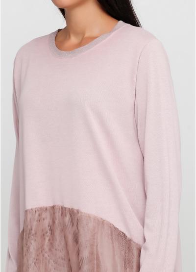 Светло-розовое повседневное платье New Collection однотонное