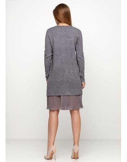 Серое платье а-силуэт Finery меланжевое