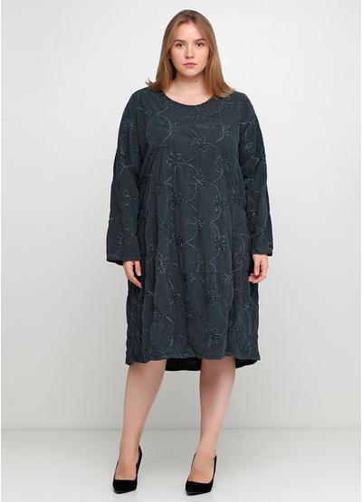 Темно-серое повседневное платье оверсайз New Collection фактурное