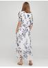 Белое кэжуал платье Moda Italia с цветочным принтом