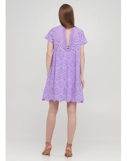 Лиловое кэжуал платье с открытой спиной, клеш Onlys однотонное