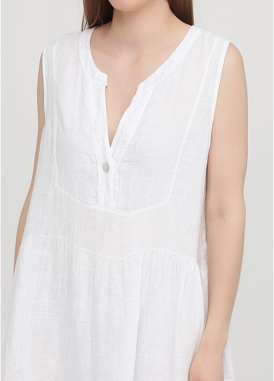 Белое кэжуал платье клеш Made in Italy однотонное