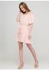 Світло-рожева кежуал сукня з відкритими плечима Moda Italia в смужку
