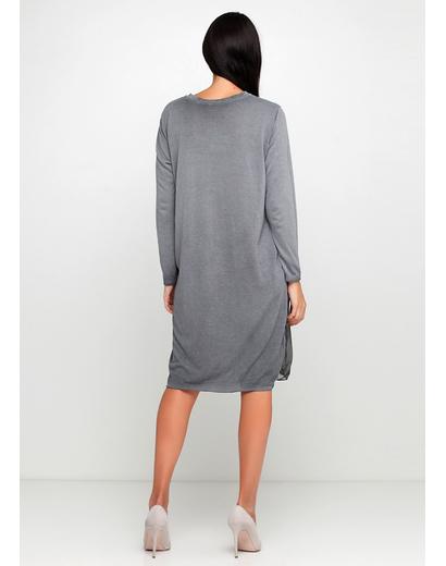 Серое повседневное платье New Collection однотонное