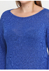 Синее платье короткое Dins Tricot с геометрическим узором