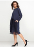 Темно-синее платье миди H1 однотонное