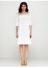Белое платье короткое Beauty Women однотонное