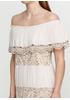 Бежевое платье миди Made in Italy однотонное