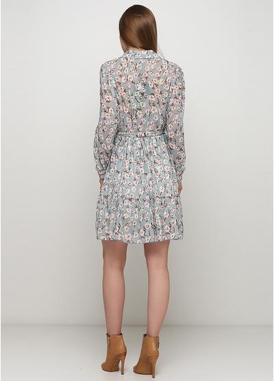 Мятное платье A aumei с цветочным принтом