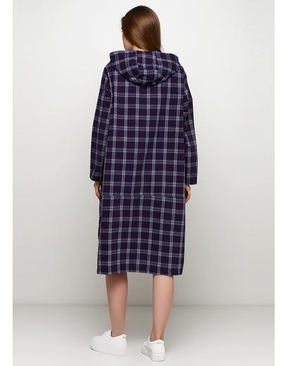 Темно-фиолетовое платье рубашка Normcore firenze в клетку