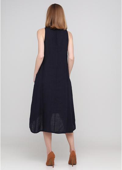 Темно-синя кежуал сукня а-силует Made in Italy однотонна